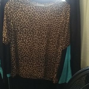 Blair animal print ladies blouse Sz L